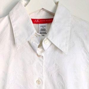 ANNE KLEIN White Button Down Shirt